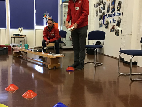 Galloway's delivers visual awareness training at a Preston primary school (pre lockdown)