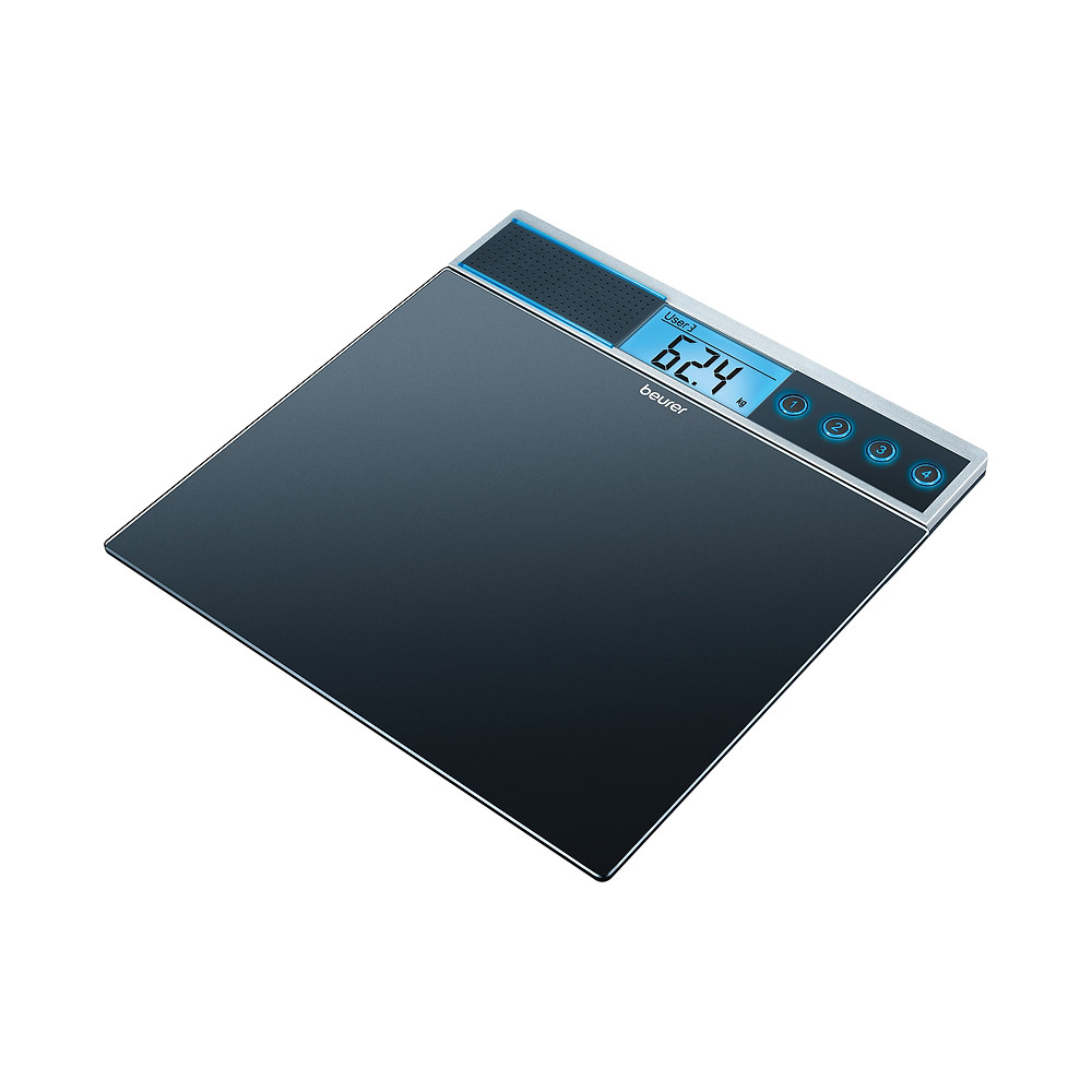 Beurer GS39 glass talking bathroom scale