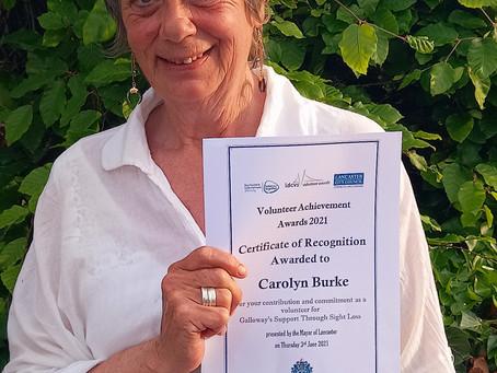 Two Galloway's volunteers honoured with certificate of recognition during Volunteers' Week
