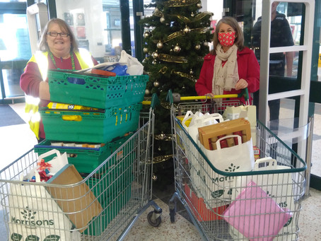 Galloway's delivers festive hampers to 40 visually impaired people in Lancaster
