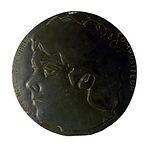 Louis-Noël Belaubre, maquette relief pour médaille, Monnaie de Paris, ardoise, 1982, (d.23cm).