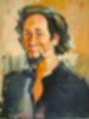 Maxime Tendero,  esquisse par Carlos Pradal,  huile sur toile, 1970.