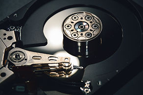 Picture of inside a hard drive