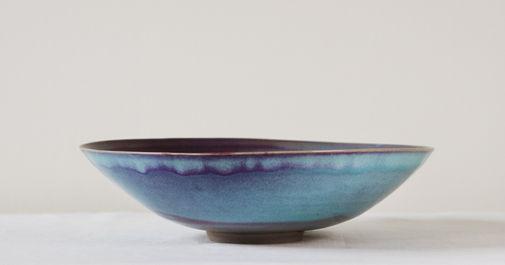 Iron blue bowl. Stoneware. 34x9h
