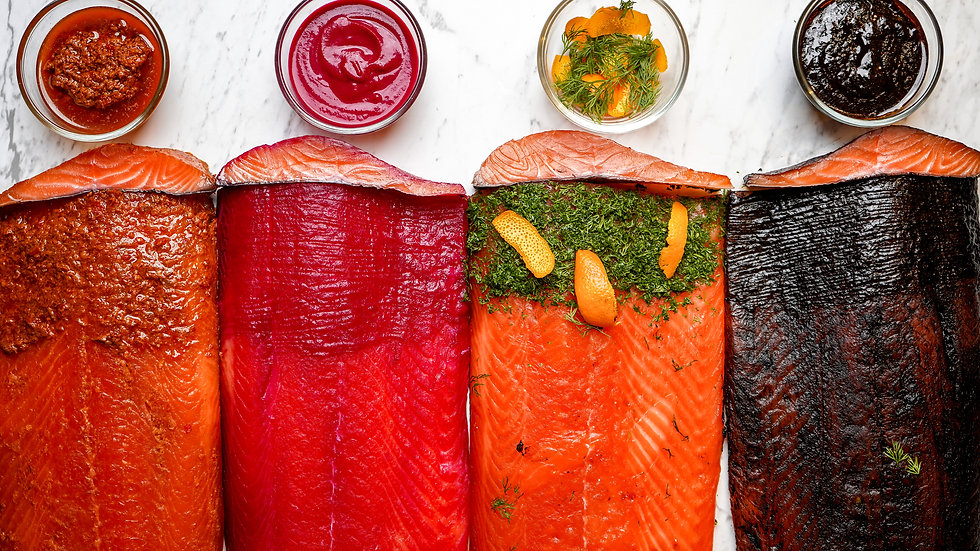 Cured Norwegian Salmon Gravlax