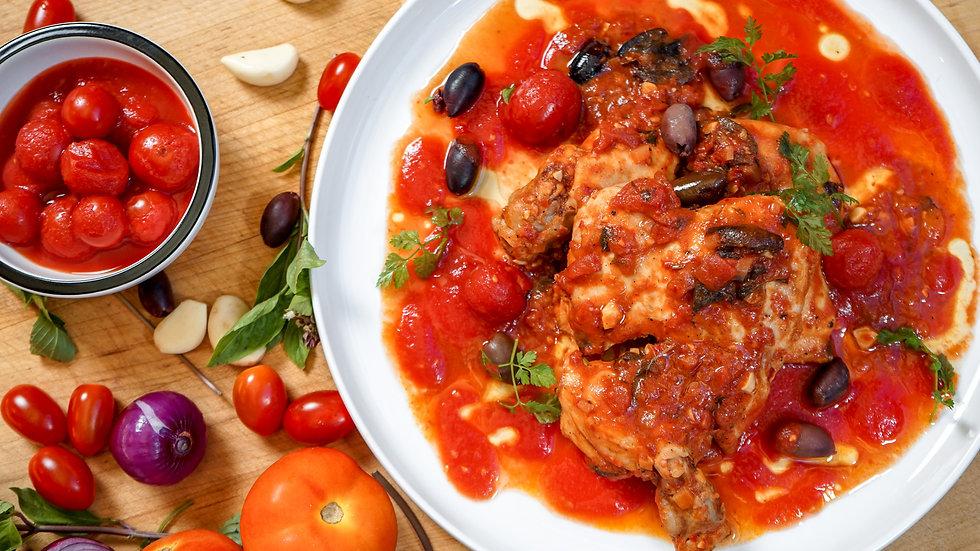 Chicken Thigh & Spicy Tomato Sauce