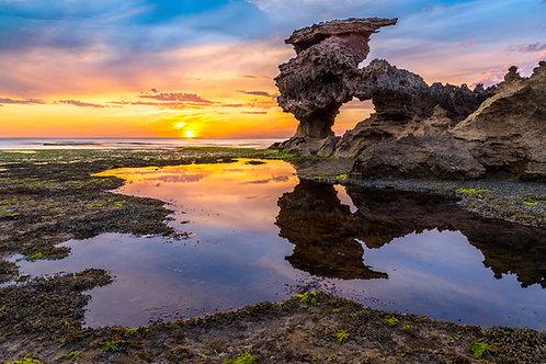 Sunset over Sierra Nevada Rocks