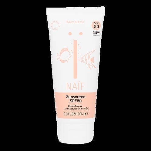 Natuurlijke zonnebrandcrème Baby & Kind factor 50