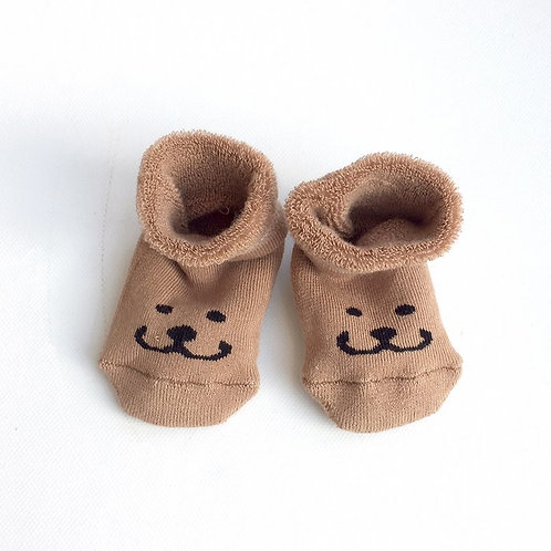 Soft, camel baby booties the Smile of Brom