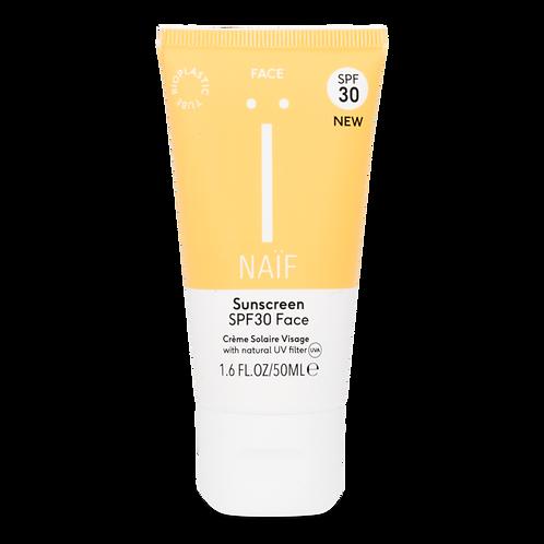 Natuurlijke zonnebrandcrème gezicht SPF30