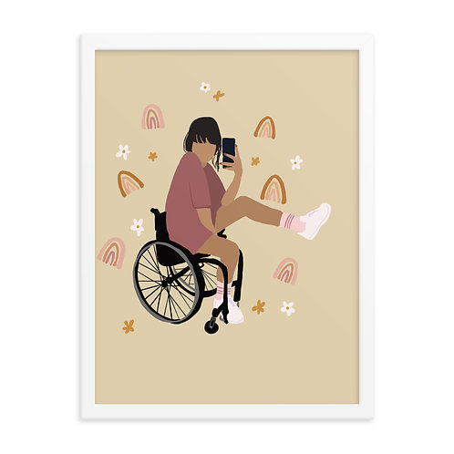 Wheelchair Rainbow Print