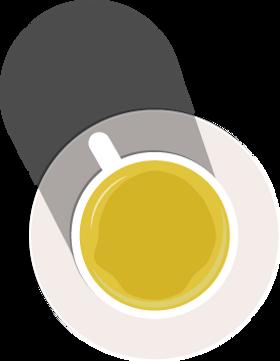 illustration of green tea