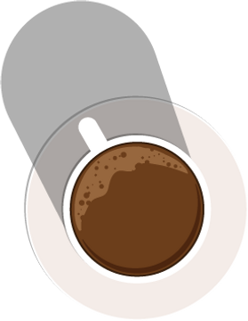 illustration of black coffee