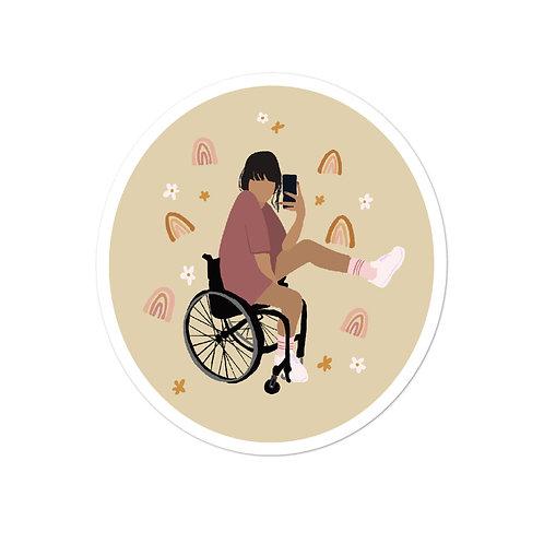 Disability Fashion Sketch Sticker 3