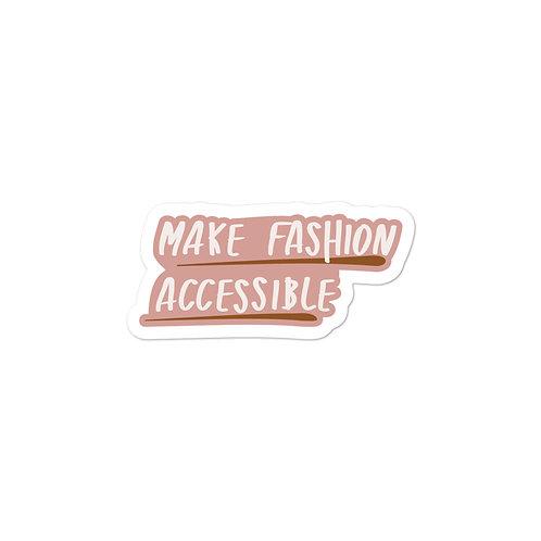 Make Fashion Accessible