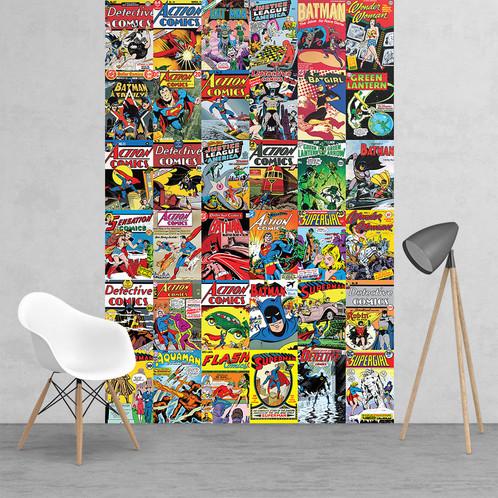 Vintage Clic Dc Comic Wallpaper Mural 2 Piece