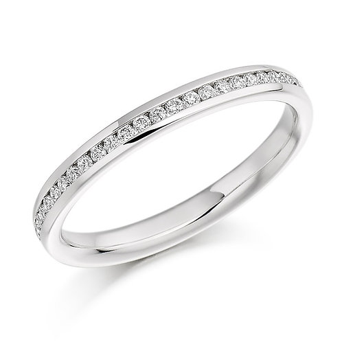 9k White Gold Channel Set Wedding/ Eternity Ring