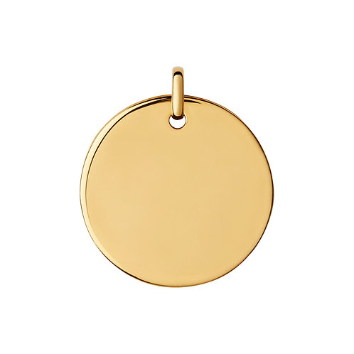 9k Yellow Gold Disc Only (No chain included)