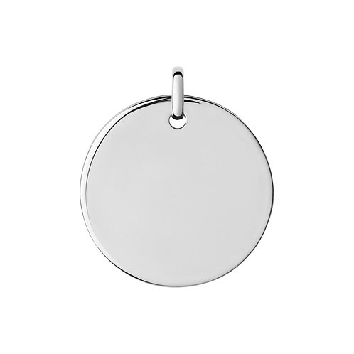 Sterling Silver Disc Pendant & Chain