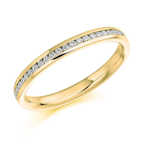 9k Yellow Gold Channel Set Wedding/ Eternity Ring