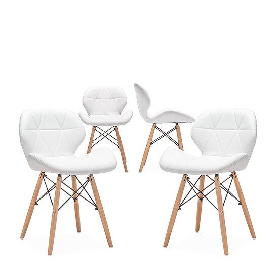 Inspirer Studio® Set of 4 New Cecilia Eiffel Pentagon Dining Chair
