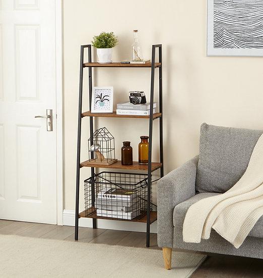 Inspirer Studio 4 Tiers Ladder Shelf, Vintage Bookshelf, Storage Rack