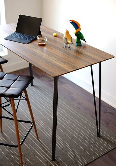 Counter Height Dining Table Rustic Brown Rectangle