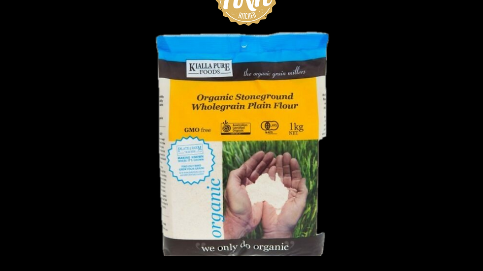 Organic stone-ground wholegrain plain flour