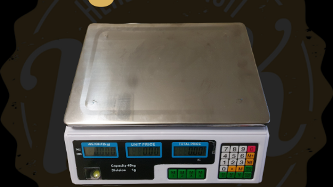 Kitchen scale with weighting from 1 gr to 40 kg