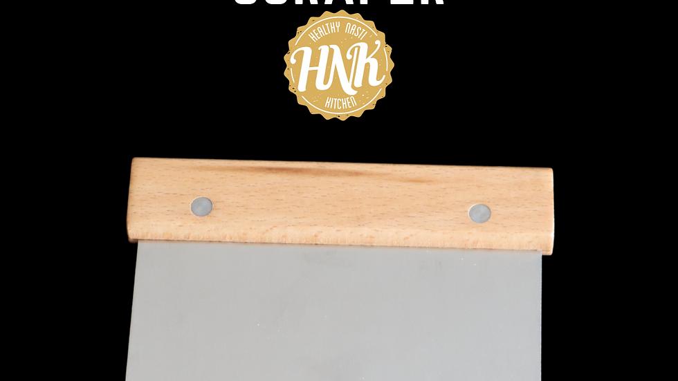Wooden handle scraper