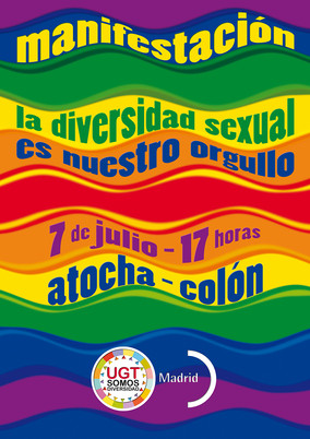UGT Madrid participa en la Manifestación del Orgullo LGTBI