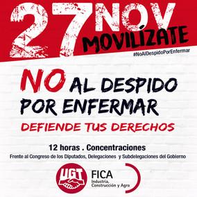 Movilizaciones el 27-N contra la sentencia del Tribunal Constitucional