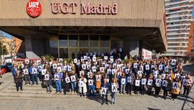 Concentración de protesta contra los accidentes laborales