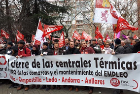 CONCENTRACIÓN DE TRABAJADORES ANTE EL MINISTERIO DE ENERGÍA EN DEFENSA DE LAS CENTRALES TÉRMICAS DE