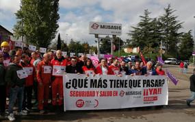Los trabajadores de Musashi Spain Villalba exigen inversiones en medidas de seguridad para evitiar a