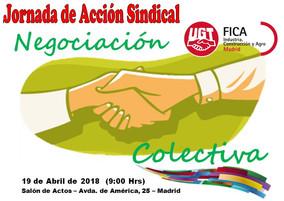 Pedro Hojas interviene  en la Jornada de Acción Sindical y Negociación Colectiva de UGT FICA Madrid