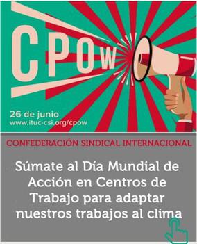 26 de junio, Día Mundial de Acción Climática en los Centros de Trabajo