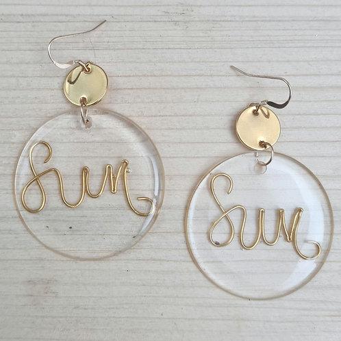Boucles d'oreilles GLASS'  | Sun