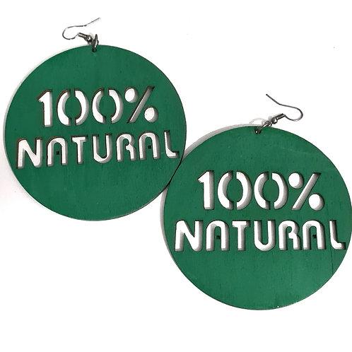 """Boucles d'oreilles """"100% Natural"""""""
