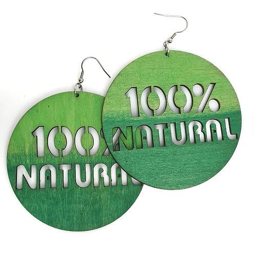 Boucles d'oreilles 100% NATURAL
