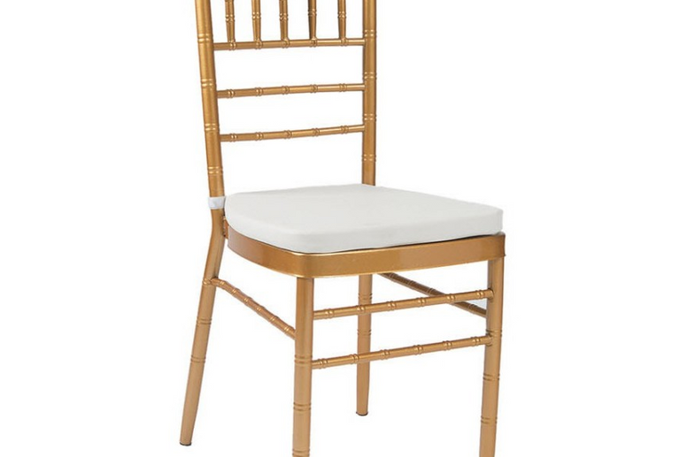 METAL CHIAVARI CHAIR IN GOLD FINISH WITH