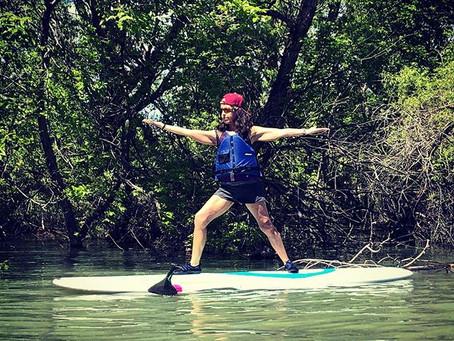 Warrior II On A Paddle board
