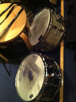 Vintage and modern snares