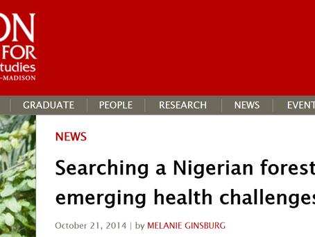 Searching a Nigerian forest for answers to emerging health challenges