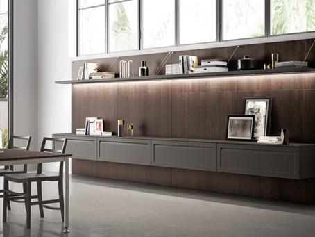 Вітальня і кухня: переваги підвісних меблів