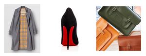 Burberry Mac, Louboutin Shoes, Cambridge Satchel Company