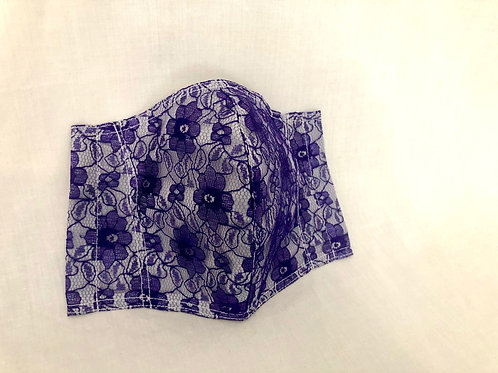 Royal Purple Lace Face Covering