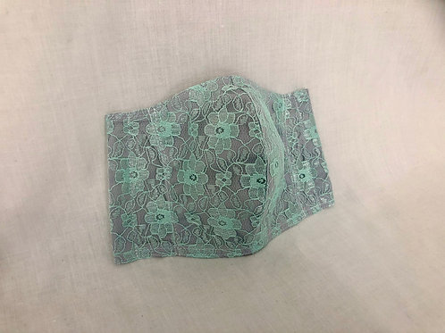 Fresh Mint Green Lace Face Covering