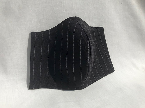 White On Black Pinstripe Mask
