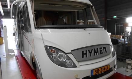 Hymer voorfront schade